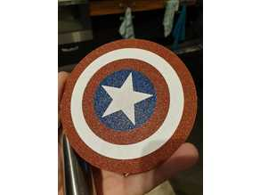 Captain America's shield coaster