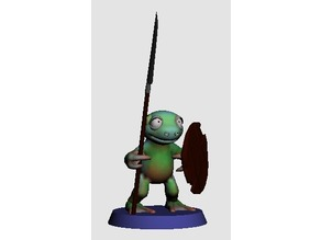 28MM SWAMPY FROGO WITH SPEAR AND SHIELD