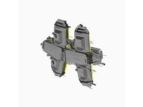 Procedural Spaceship - OpenSCAD