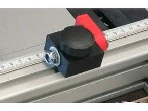 Stoppklotz mit Klappanschlag für Aluprofil 3cm