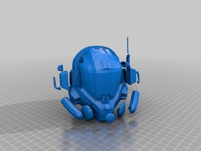 TitanFall MCOR Helmet V2 Remeshed