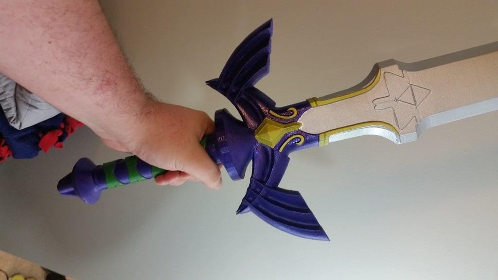 Master Sword (Full Size) - Legend of Zelda by ChaosCoreTech
