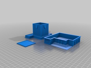 6mm - Modular  SimCity Buildings (Police Station, Fire Hall, Court House)