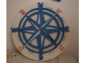 WIND ROSE wall art / decoration