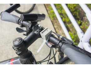 snap-fit handle bar mount base