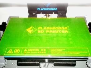 Glassbed Corner Brackets for FlashForge Dreamer for 3mm Plates