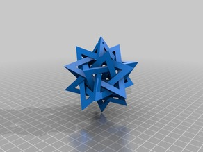 Five Intersecting Tetrahedra Ornament
