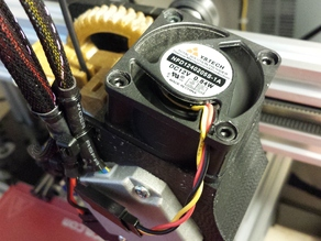 Nema 17 Motor Fan Shroud for Greg's Hinged Accessible Extruder (MakerFarm Prusa i3 i3v)