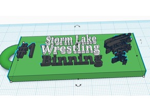Storm Lake Wrestling Key chain