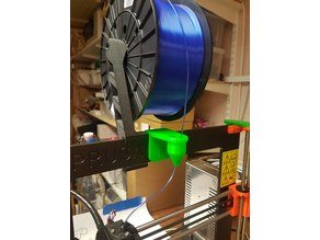 Prusa i3 mk3 filament cleaner / dustfilter and guide