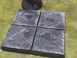 threednd - modular old floor tile