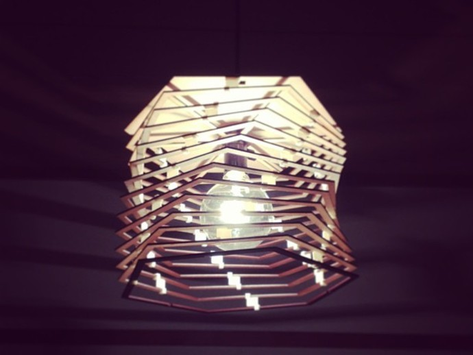 Helix Lamp Shade By T Kondo Thingiverse