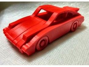 Porsche 911 Simplified - For 3D Print