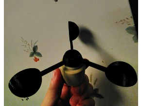 Replacement anemometer cup & hub for ws1080 weather station