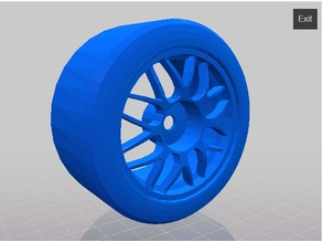 rc 1/10 subaru 22b wheels BBS style