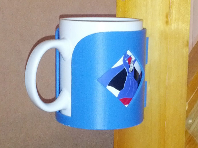 Wall Mount Mug : Wall mounted bottle can and mug holder by ctheroux