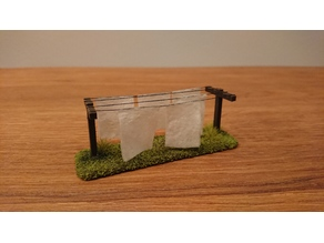 Clothesline - 28 mm wargaming terrain