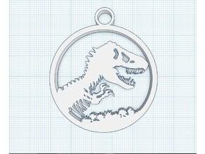 Jurassic Park key-chain
