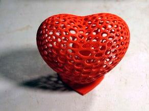 Voronoi Heart w stand