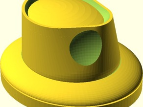 Millinery Hat Block - Fedora