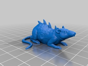 Dire Rat Miniature (from the TILESCAPE Dungeons Critters Pack)