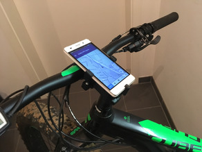 Bike smartphone holder (Cube nutrail hybrid, Huawei G Play Mini)