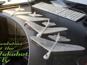 Bukobot Fly - 1 piece printable glider that flies!