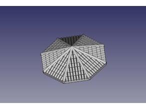 Tejados octogonales de teja para Exin Castillos