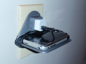 WALL OUTLET CELLPHONE HOLDER (IPHONE & IPOD)