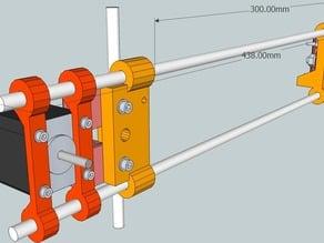 Vertical X axis for Reprap Mendel