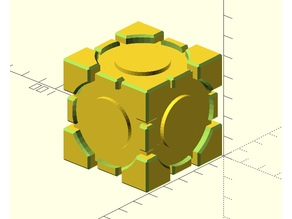 Companion Cube (OpenSCAD)