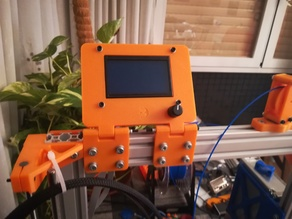 LCD Display Mount for 40x20 extrusions. Reprapdiscount Full Graphic.