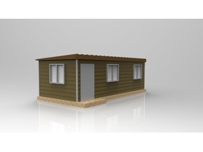 Container House Model HO Scale