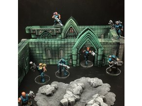 ScatterBlocks: TechnoGothic Walls (28mm/32mm scale)