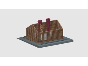 HO scale Lizard Head section house