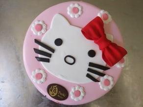 Hello Kitty head Fondant sugar paste cutter