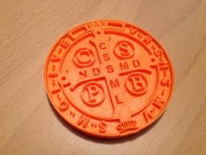 Saint Benedict Medal - Backside of Medal (Front side is pending)