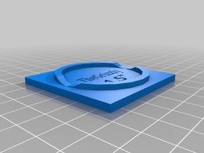 Wood Disk holder for laser engraving