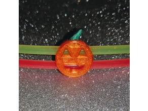 Pumpkin charm for glow stick (dual glow sticks)