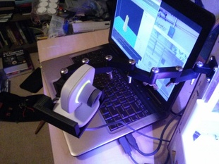 Webcam Mount for the Microsoft Xbox Live Vision Camera