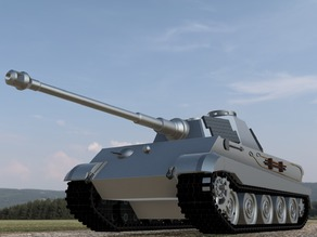 Panzer VI Tiger Ausf. B (Revised Design) Tank with Rotating Top