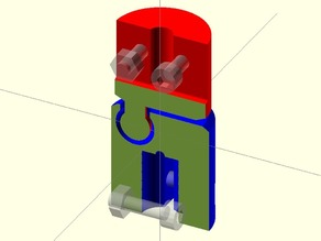 Elastomeric Coupling 0v1: 4.75mm stepper motor to 8mm threaded shaft
