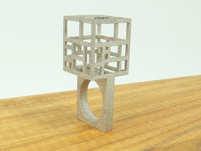 Wearable Architecture-Mondrian Ring