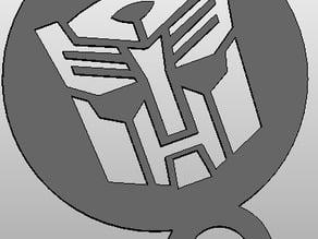 coffee Stencil - Autobot Logo or upside down Darthwader