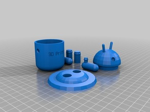 3D Printed Android Bot (container)