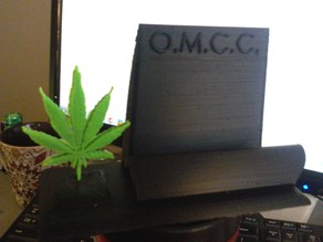 Oregon Medical Cannabis Clinic business card stand