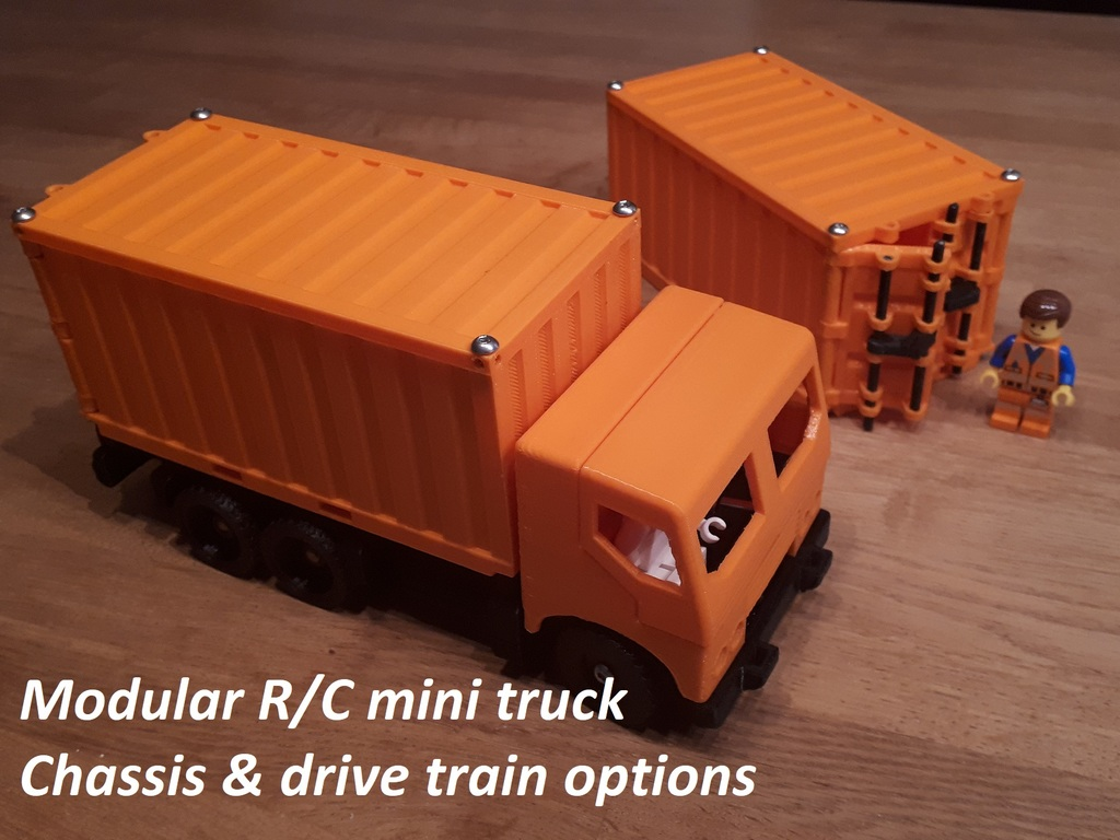 Manual/RC modular mini truck - drive train by advancedvb