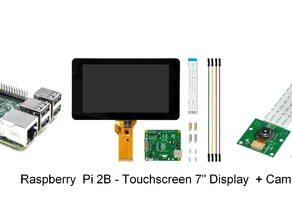 "Case for Touchscreen 7"" - Raspberry Pi 2B - Cam"