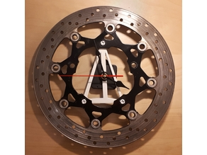 brake disc wall clock
