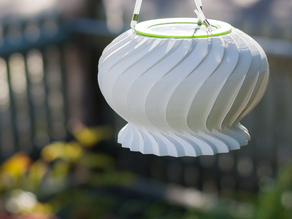 Outdoor solar cell lampshade